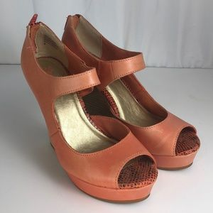 Seychelles Peach Wedge Heels 9 Shoes